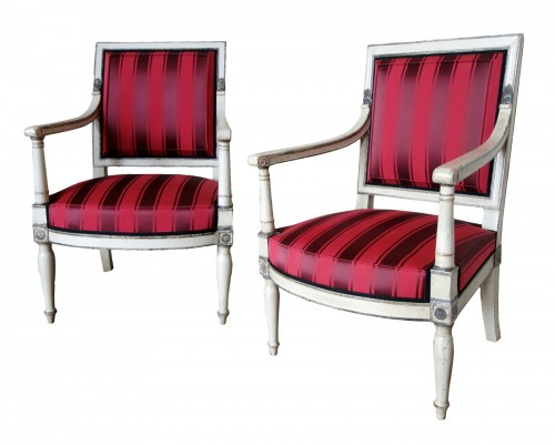 2 Empire Armchairs Coming From The Tuileries And Fontainebleau Palaces
