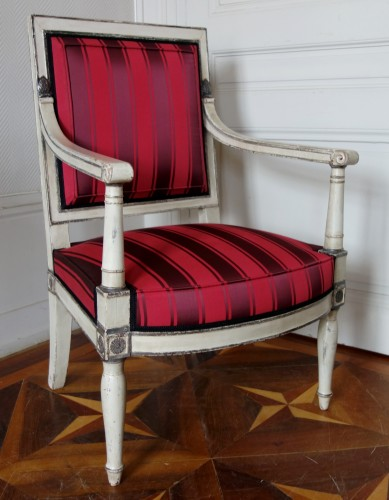 2 Empire Armchairs Coming From The Tuileries And Fontainebleau Palaces - Seating Style Empire