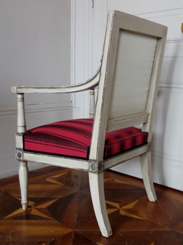 19th century - 2 Empire Armchairs Coming From The Tuileries And Fontainebleau Palaces