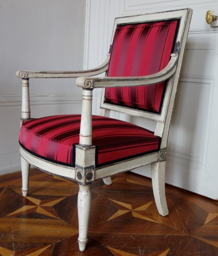 2 Empire Armchairs Coming From The Tuileries And Fontainebleau Palaces - Empire