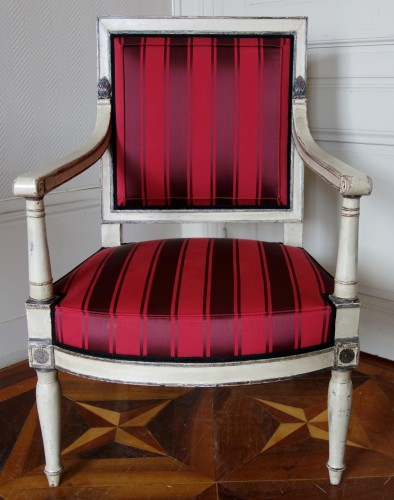 Empire - 2 Empire Armchairs Coming From The Tuileries And Fontainebleau Palaces