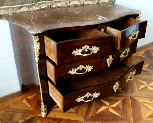 Louis XV - French Louis XV chest of drawers stamped by Mathieu CRIAERD