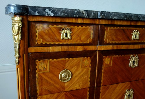 Antiquités - Louis XVI Marquetry commode - Stamp of Pascal  Coigniard