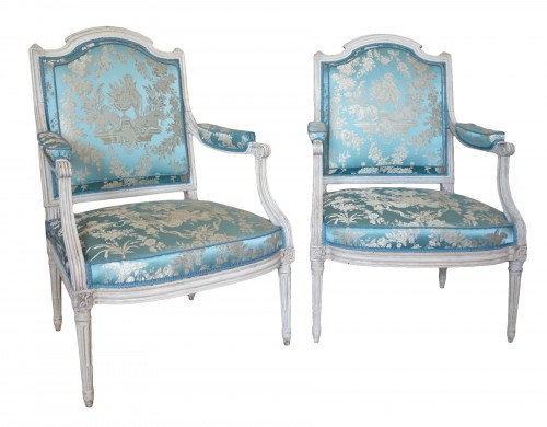 Pair of armchairs stamped Jean Baptiste Boulard