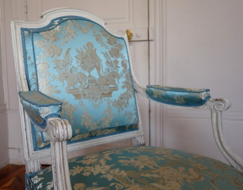 Antiquités - Pair of armchairs stamped Jean Baptiste Boulard