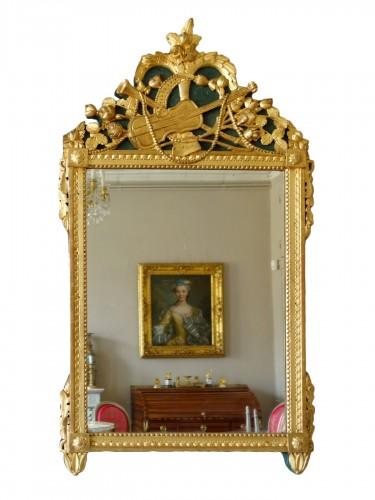 Louis XVI provencal giltwood Mirror