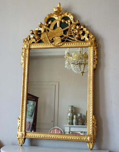 Mirrors, Trumeau  - Louis XVI provencal giltwood Mirror