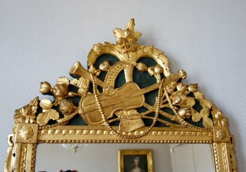 Louis XVI provencal giltwood Mirror - Louis XVI