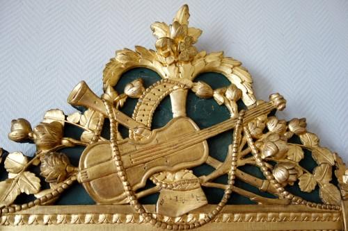 Louis XVI - Louis XVI provencal giltwood Mirror