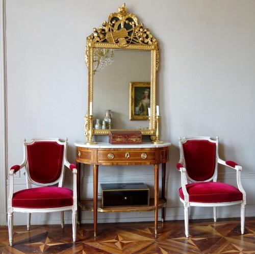 Antiquités - Louis XVI provencal giltwood Mirror