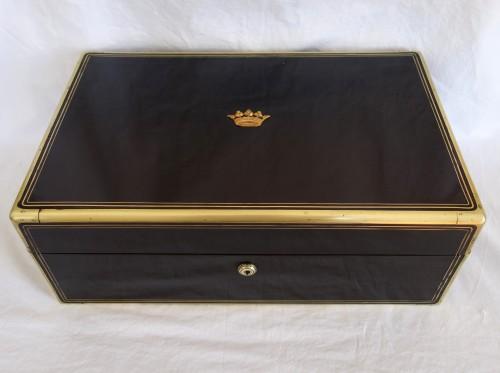 Aucoc - Travel / vanity set - Antique Silver Style Napoléon III