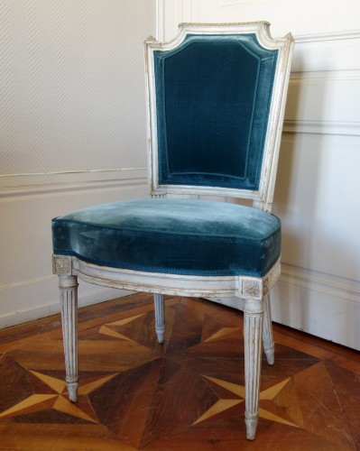 Seating  - Pluvinet : Set Of 4 Louis XVI Finely Carved Chairs - Stamped