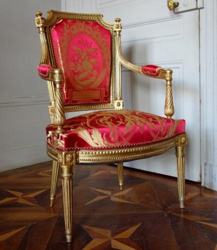 Louis XVI gilt wood salon suite -