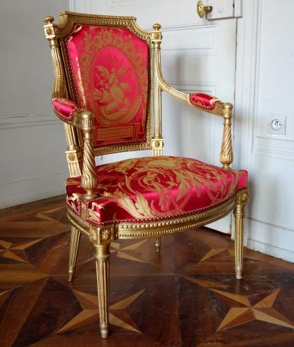 19th century - Louis XVI gilt wood salon suite
