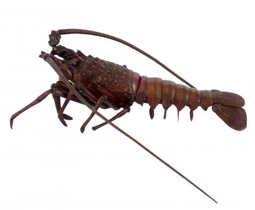 Jizai, articulated bronze lobster, Japan, Meiji period