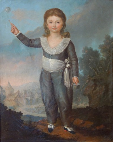 Paintings & Drawings  - Portrait of Louis Joseph of France first Dauphin, oil on canvas
