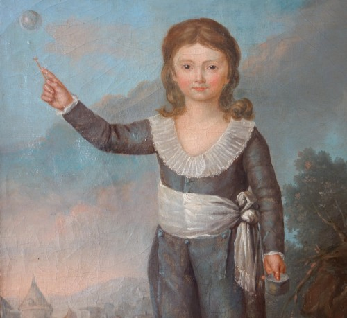 Portrait of Louis Joseph of France first Dauphin, oil on canvas -