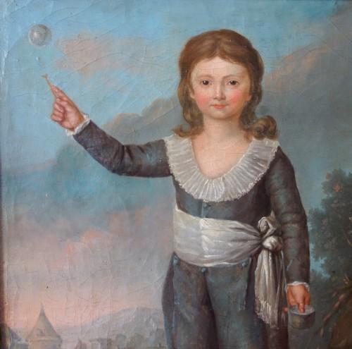 Portrait of Louis Joseph of France first Dauphin, oil on canvas - Louis XVI