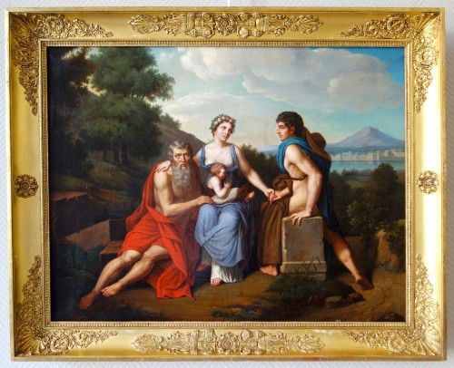 Early 19th Century French School : 3 Stages Of Life After Francois Gerard - - Paintings & Drawings Style Empire