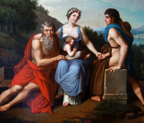 Early 19th Century French School : 3 Stages Of Life After Francois Gerard - -
