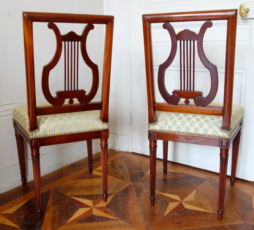 Pair of mahogany Lyre chairs by Georges Jacob - Seating Style Louis XVI