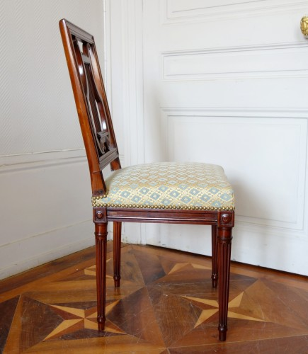 Pair of mahogany Lyre chairs by Georges Jacob - Louis XVI