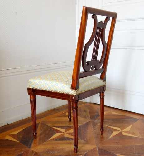 Antiquités - Pair of mahogany Lyre chairs by Georges Jacob