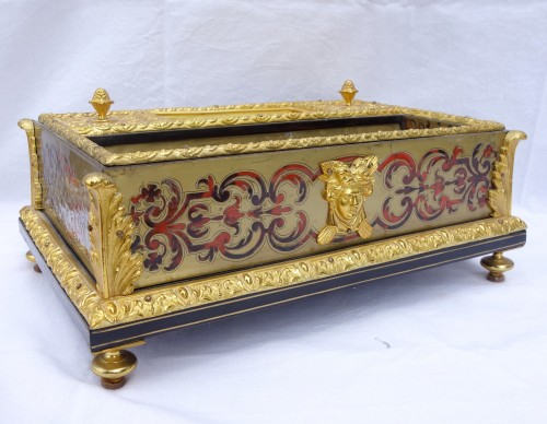 19th century - Louis XIV Style Inkwell - Boulle Marquetry And  Ormolu Bronze - Circa 1850