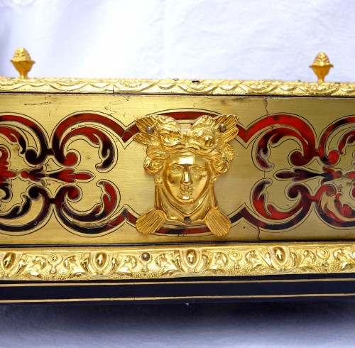 Antiquités - Louis XIV Style Inkwell - Boulle Marquetry And  Ormolu Bronze - Circa 1850