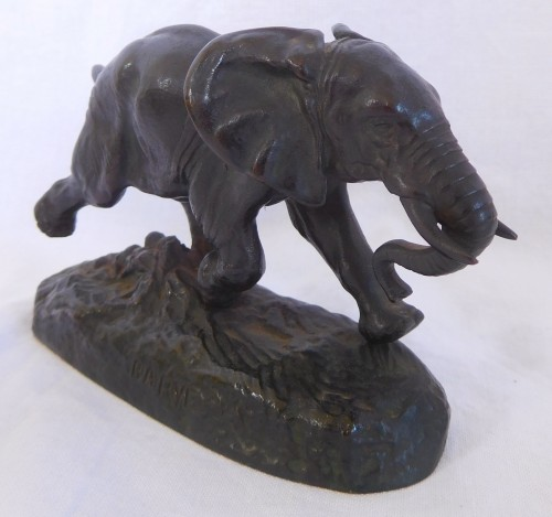 Antoine Louis Barye (1796-1875). - Elephant of Senegal at the race, Barbedienne - Sculpture Style Napoléon III