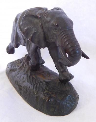 19th century - Antoine Louis Barye (1796-1875). - Elephant of Senegal at the race, Barbedienne