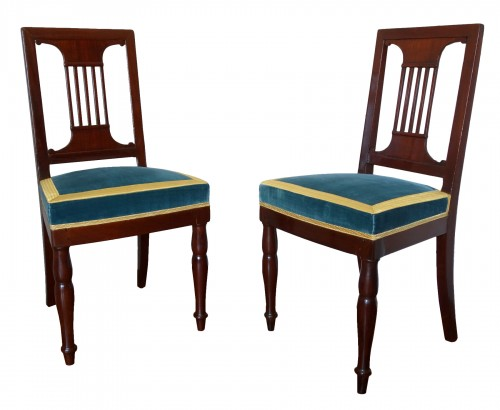 Pair of royal chairs made by Jacob for King Louis Philippe at Bizy castle