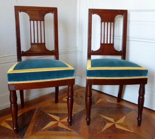 Pair of royal chairs made by Jacob for King Louis Philippe at Bizy castle - Seating Style Empire