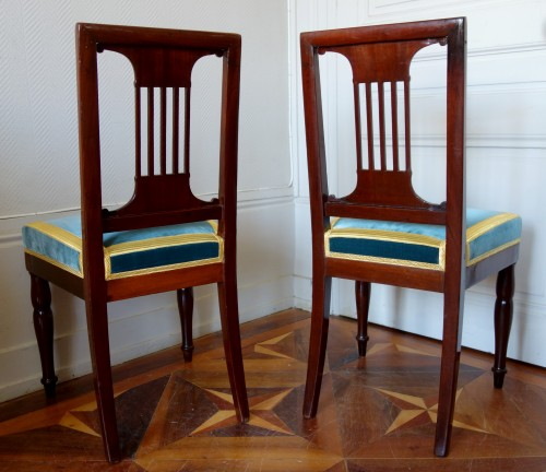 Seating  - Pair of royal chairs made by Jacob for King Louis Philippe at Bizy castle
