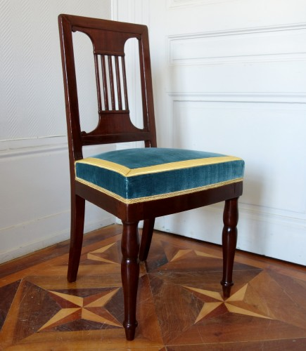 Pair of royal chairs made by Jacob for King Louis Philippe at Bizy castle -