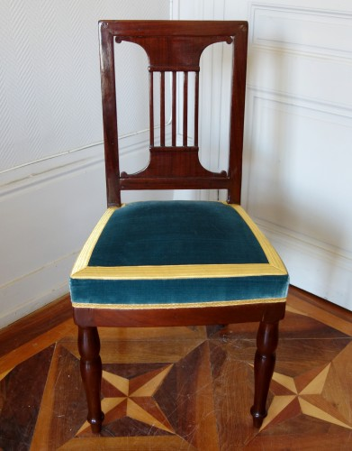 Pair of royal chairs made by Jacob for King Louis Philippe at Bizy castle - Empire