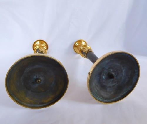Antiquités - Claude Galle : pair of Empire ormolu candlesticks