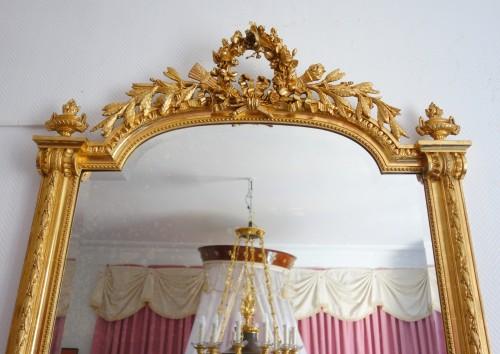 A late 19th century gilt wood mirror -