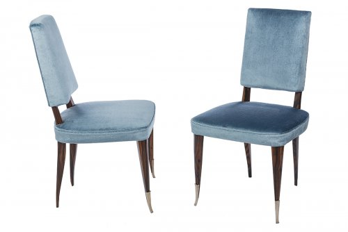Emile Jacques Ruhlmann  - pair of chairs  - Seating Style Art Déco