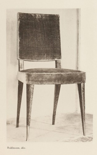 Emile Jacques Ruhlmann  - pair of chairs  - Art Déco