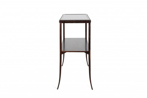 Furniture  - E J Ruhlmann  - Solid Macassar ebony console