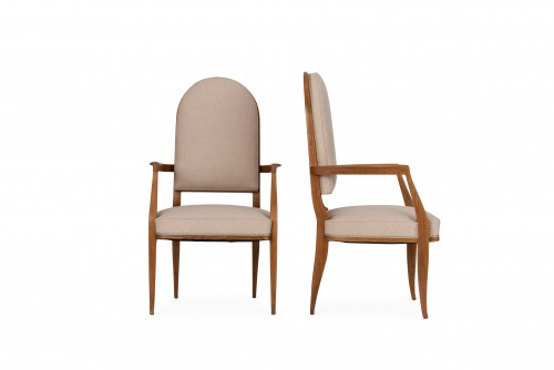 Seating  - Alfred Porteneuve -  Armchairs pair