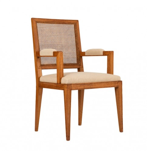 Oak armchair - attributed to Marc Duplantier
