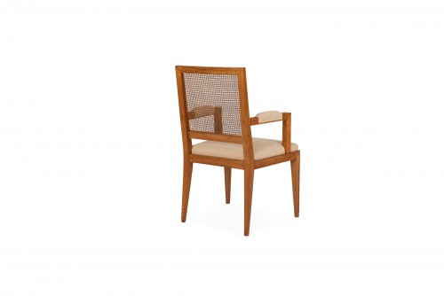 Oak armchair - attributed to Marc Duplantier -