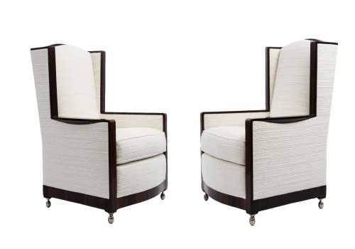 E J Ruhlmann  -  pair of armchairs