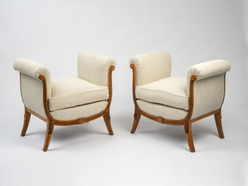 Seating  - A Groult - pair of stools