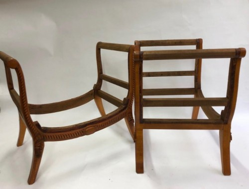 A Groult - pair of stools -