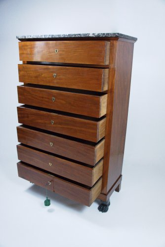 Tallboy of the Consulate period by Jean-Baptiste Gamichon - Furniture Style Empire