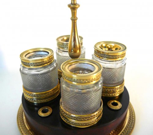 An Empire inkwell in gilt bronze and mahogany by Ravrio - Decorative Objects Style Empire