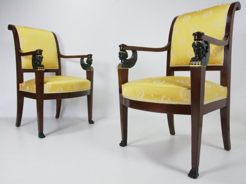 Seating  - Pair of armchairs of the Consulat period by Bellangé